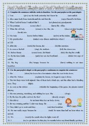 English Worksheet: Past Perfect Simple and Past Perfect Continuous