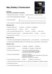 English Worksheet: Mary Shelley�s Frankenstein
