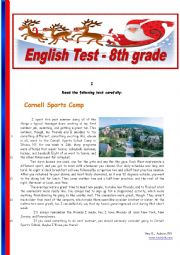 English Worksheet: Sports - 8th grade