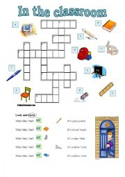 English worksheet: In the classroom 1