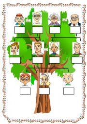 English Worksheet: MY FAMILY TREE 2