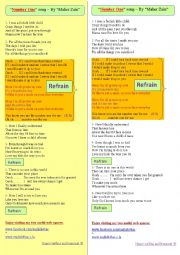 English Worksheet: A song for mothers, entitled: