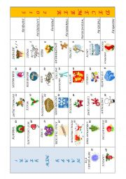English Worksheet: December 2013 Calendar