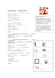 English Worksheet: Song Cyndi Lauper Time After Time - First type conditional