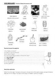 English Worksheet: Bonfire Night (simple activities)