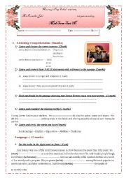 English Worksheet: Mid Term Test N1  First year secondary