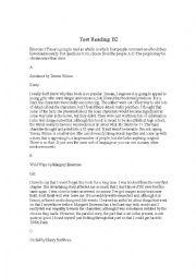 English Worksheet: Test Reading B2