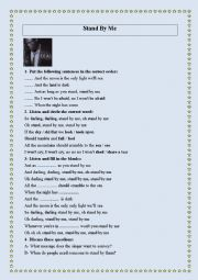 English Worksheet: Stand by me (a song by Seal)