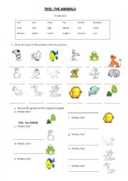 English Worksheet: THIS: ANIMALS