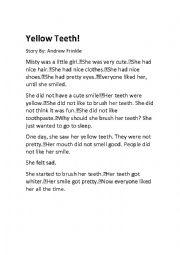 English Worksheet: yellow teeth