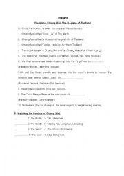 English Worksheet: Chiang Mai, Thailand