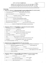English Worksheet: A2 first exam