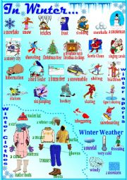 English Worksheet: In Winter...