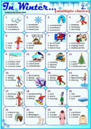 English Worksheet: In Winter...2