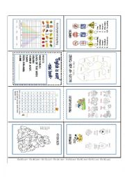 English Worksheet: ENGLISH IS EASY MINIBOOK
