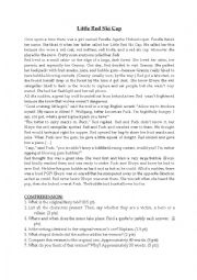 English Worksheet: Reading Comprehension Little Red Ski Cap