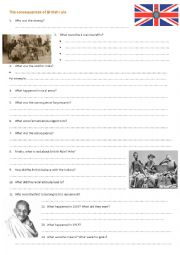 English Worksheet: Listening: The impact of British rule