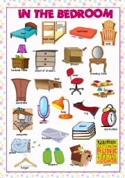 English Worksheet: Bedroom Picture Dictionary