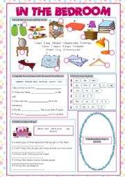 English Worksheet: Bedroom (Vocabulary Exercises)