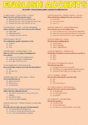 English Worksheet: English accents and dialects