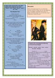 English Worksheet: Song - present continuous - spending my time
