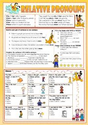 English Worksheet: *** Relative pronouns ***