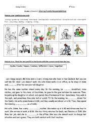 English Worksheet: 9th Form Module 1/Lesson 2: Sharing Family Responsibilities Group Session