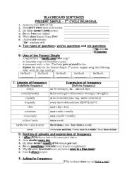 English worksheet: PRESENT SIMPLE FREQUENCY ADVERBS AND EXPRESSIONS