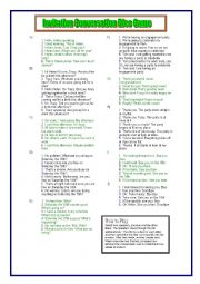 English Worksheet: Invitation Dice Game