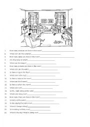 English Worksheet: Yes/no questions and Wh-questions