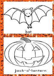 Halloween picture dictoionary (coloring peges)