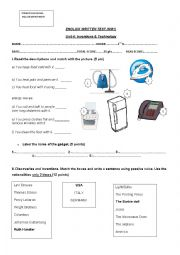English worksheets: inventions worksheets, page 13