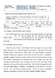 English worksheets: Simple Present worksheets, page 166