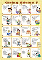 English Worksheet: Giving advice 3/3