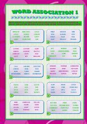 English worksheets: Weather: Word Association