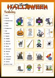 * Halloween vocabulary *