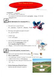 English Worksheet: Baseball Rules_listening Practice