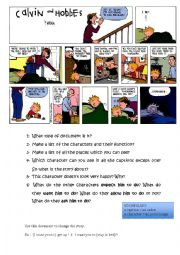 English Worksheet: Calvin and Hobbes - Adults� expectations