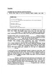 English Worksheet: Ireland series (worksheet 3: Dublin)