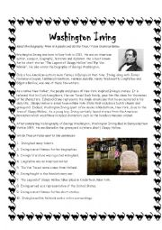 Washington Irving Sleepy Hollow Author Biography