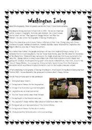 Washington Irving Sleepy Hollow Author Biography