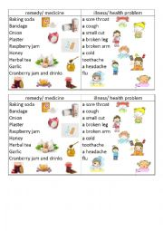 English Worksheet: Table Remedy