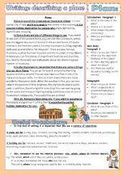 English Worksheet: Writing- Describing a place