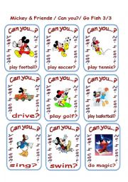 Can you...Mickey and Friends Go Fish 3/3