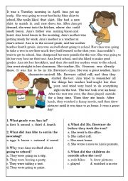 Reading Comprehension for beginner and Elementary Students 10