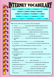 English Worksheet: Internet Words and Expressions (Vocabulary Expansion)
