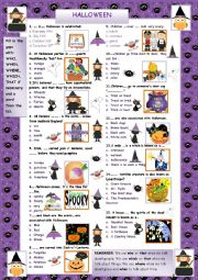 Halloween Quiz II - Who, which, where, when