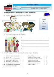 English Worksheet: THE BIG BANG THEORY - THE LUMINOUS FISH EFFECT
