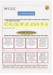 English Worksheet: Music Styles