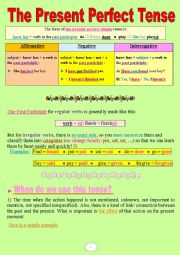 English Worksheet: The Present Perfect Simple and Continuous, made easy! (a very useful grammar-guide + lots of practice)